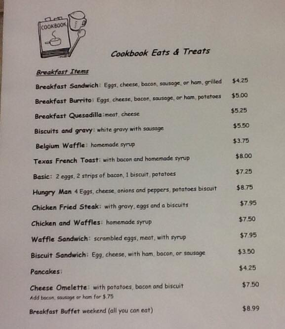 Our breakfast menu...come join us