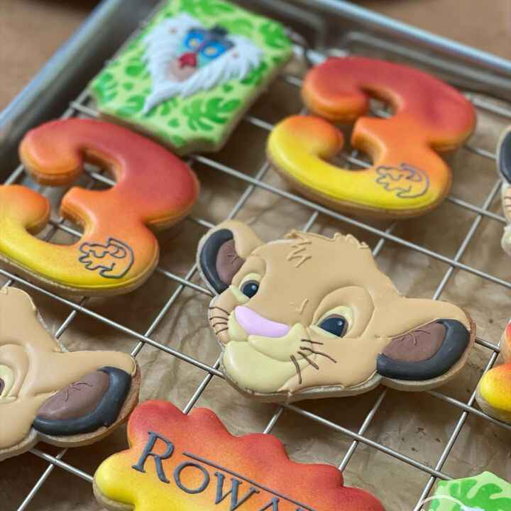 I am so in LOVE with these cookies - I ALMOST didn't let them leave! 🦁 The Mama was a former babysitter for my babies - ...