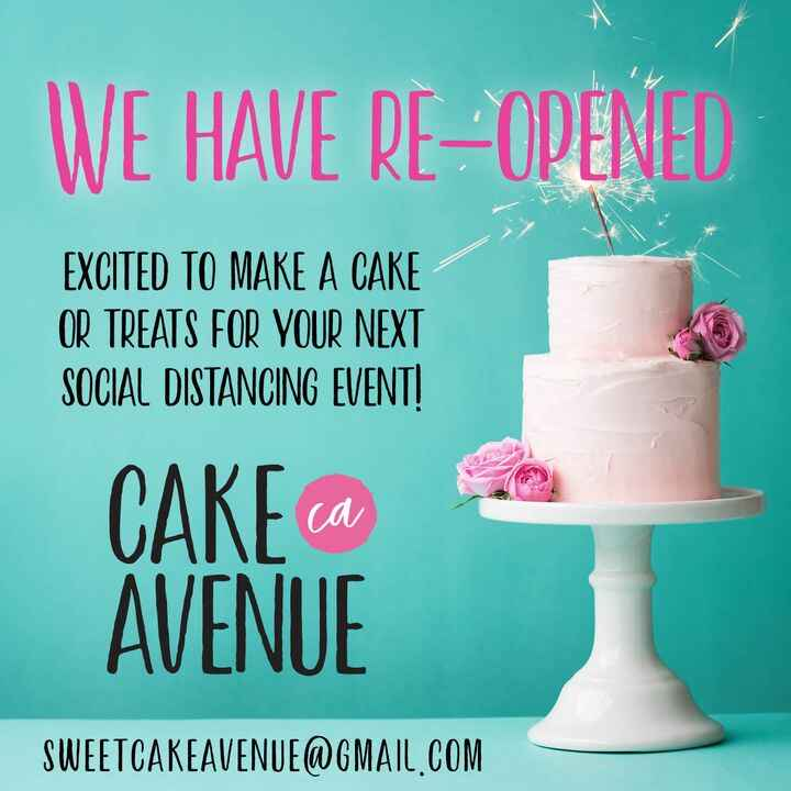 Email today and let's start planning your next cake order.