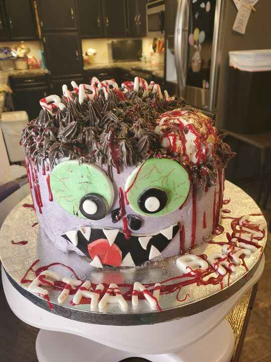 Ethan wanted a zombie cake