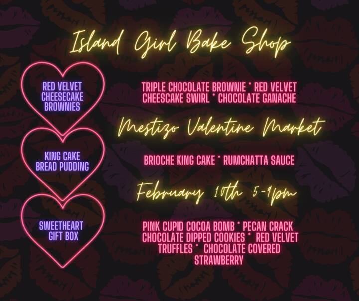 Tomorrow evening come join me and other local businesses for the Mestizo Valentine Market. Sip margaritas while you shop...