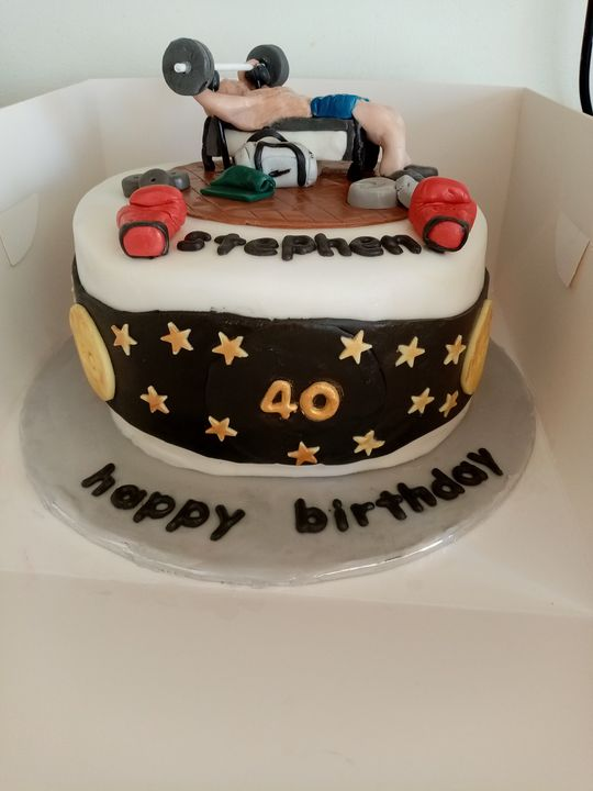 A happy 40th for a weightlifting and boxing fan. X