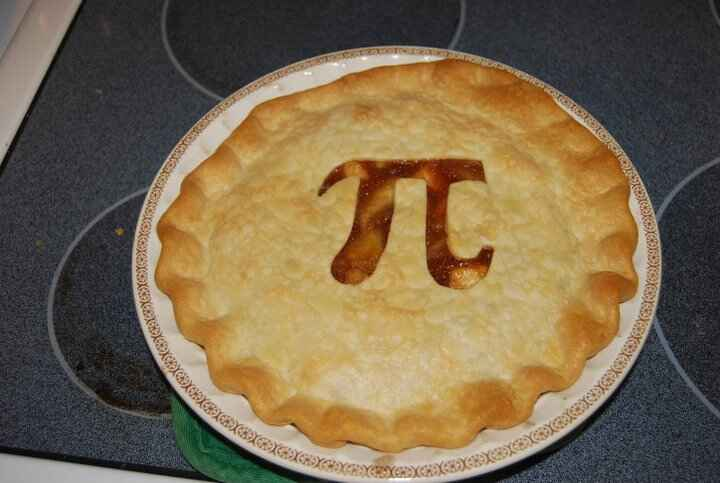 """Pi Pie...made especially for """"Pi Day"""" at Moses Middle School!"""