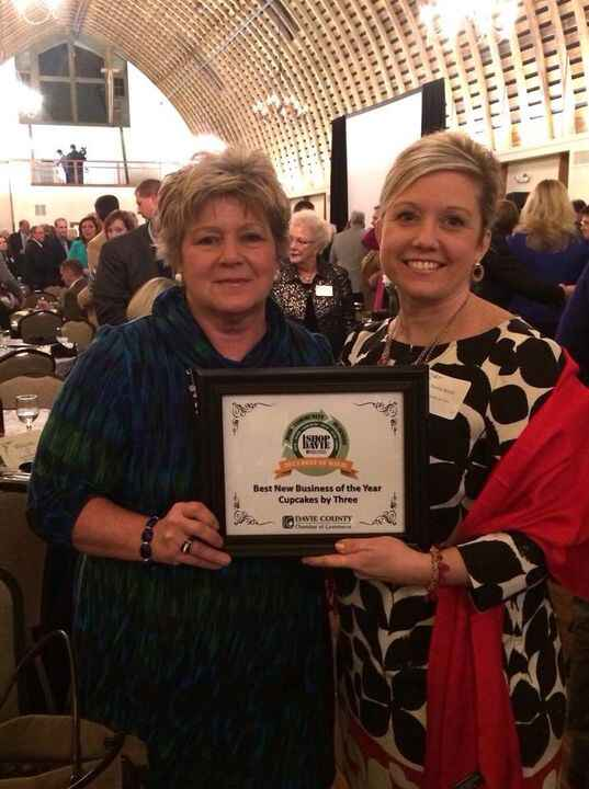 """A big congrats to Cupcakes by Three for winning """"Best New Business of the Year"""" in davie county!!! I'm so happy to be wo..."""