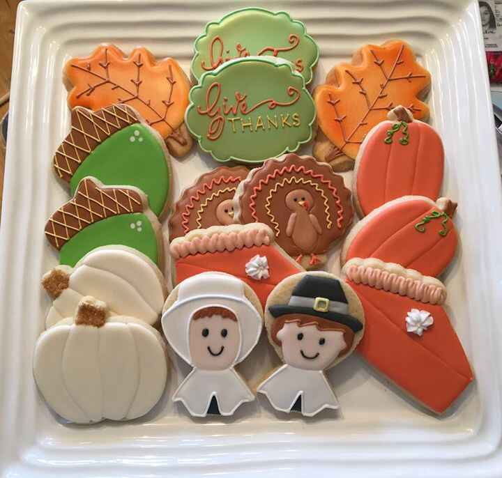 Happy Thanksgiving to my US friends. I'm thankful for all of you who have encouraged me on this cookie-business journey ...