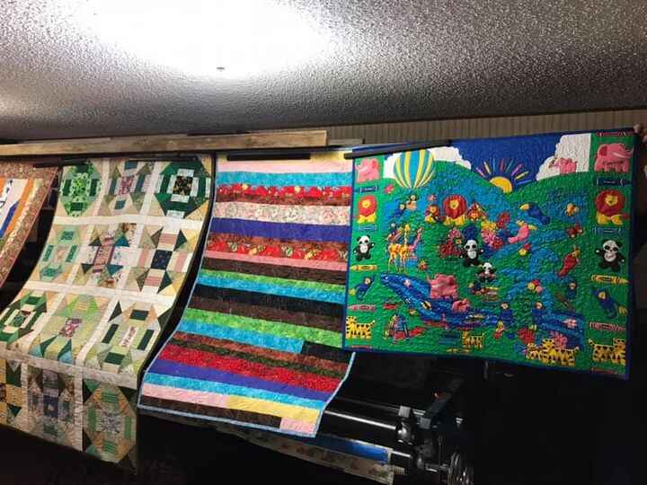 Charity quilts done-now deliver back to Charity central at WSQ.