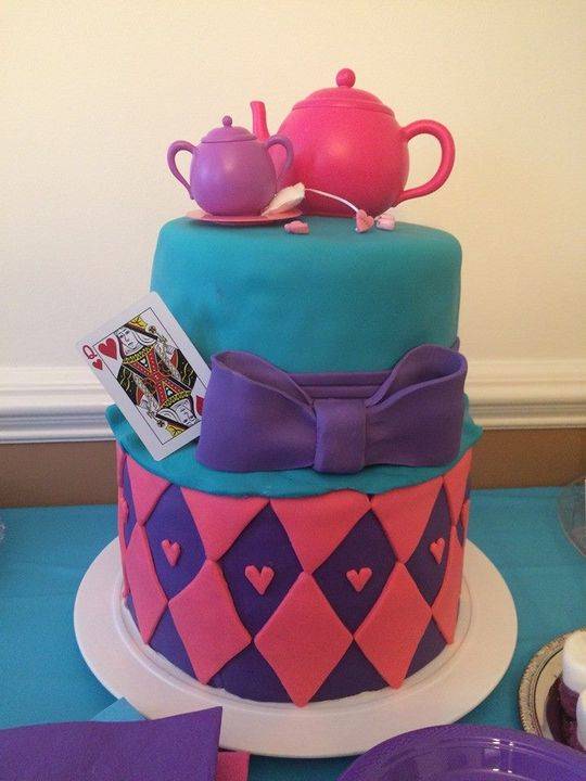 Alice in Wonderland Cake for a Second Birthday.