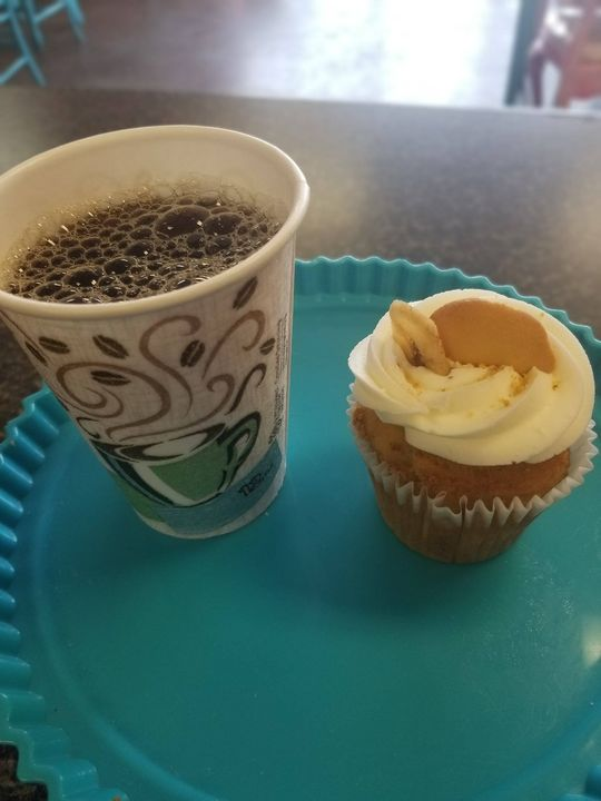 Come on in out of the cold and grab a hot cup of locally brewed coffee and a gourmet cupcake for only $5!!
